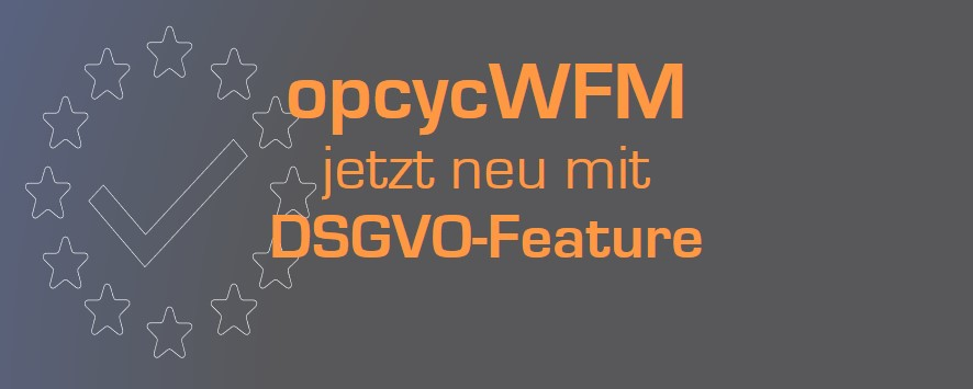 opcycWFM DSGVO Feature