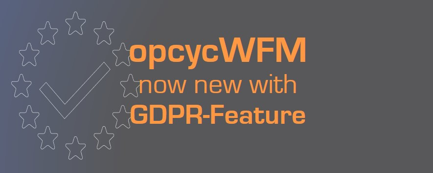 opcycWFM GDPR Feature